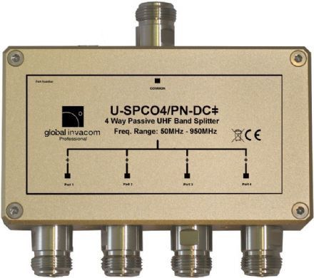 UHF 4 Way Passive Splitter/Combiner